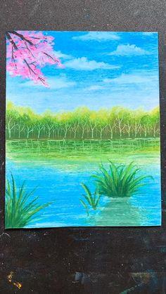 Oil Pastel Drawings Easy, Oil Pastel Paintings, Art Drawings Sketches Simple, Oil Pastels, Indian Paintings, Abstract Paintings, Canvas Painting Tutorials, Diy Canvas Art, Crayon Painting
