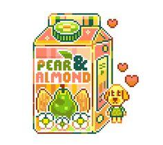 Pixel Art Food, Anime Pixel Art, Animal Crossing Fan Art, Pix Art, Aesthetic Gif, Aesthetic Stickers, Game Design, Cute Wallpapers, Art Inspo