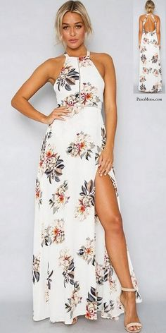 Floral Collection White Summer Boho Style Maxi Dress with #FreeShipping. #LongDresses #LongDressesCasual #LongDressesSummer #SummerOutfits #SummerDresses #CasualLongDresses #ChicOutfits #ChicFashion #WomensFashion #WomensFashionCasual #WomensFashionForSummer #2017Dresses #2017DressStyle #Boho #Bohemian #BohoStyle #BohoChic