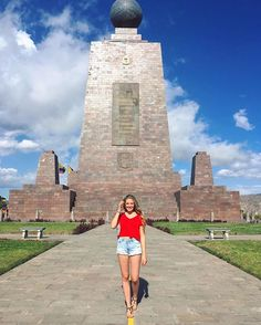 """""""La Mitad del Mundo"""" or in English """"the middle of the world""""❤️ Actually, you see me walking on the Equatorial line, the one which divides our beautiful earth into it's northern and southern half🌎🌍🌏 I know, that it's just a normal place on our planet like any other one, too but when I stood there, I felt like I had the whole world to my feet which was such a cool experience☺️ I mean, just the idea stand on the Northern and Southern Hemisphere at the same time was so cool🎉 Has anybody…"""