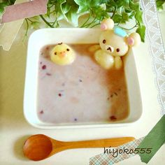 豆乳入りの冷たいおしるこ 豆腐白玉。