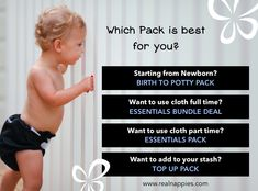Which Real Nappies Pack? Cost Saving, All You Need Is, Stuff To Buy
