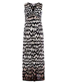 Praslin Zick-Zack Maxikleid  Praslin Chevron Maxi dress   | Übergröße - XXL-Mode - Plus Size - Große Größen - Molly - Fashion - Kleidung