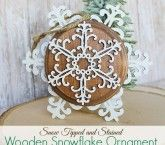 Snow Tipped and Stained Wooden Snowflake Ornaments ~ DecoArt Giveaway