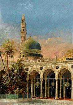 Masjidun Nabawi. Gives a surreal feel of home looking at it, and warmth ♡