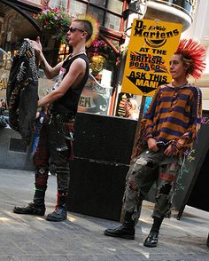 Credit: Sonny Meddle/Rex Features Punk rockers in Covent garden, London in 2005, still sporting DMs but of a decidely more commercial bent
