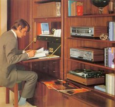Grundig Hi-Fi Stereo SV85 - working from home, 70s style