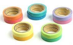10 Decorative Washi Rainbow Sticky Paper Masking Adhesive Tape $3.50 Shipped! - http://couponingforfreebies.com/10-decorative-washi-rainbow-sticky-paper-masking-adhesive-tape-3-50-shipped/