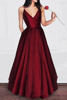 Simple Satin Prom Dress,long Burgundy Prom Dresses With Pocket,Dark Red Spaghetti Straps Evening Dresses,cheap Prom Party Gowns Prom Dresses With Pockets, Straps Prom Dresses, Grad Dresses, Homecoming Dresses, Long Dresses, Sexy Dresses, Wedding Dresses, Summer Dresses, Fashion Dresses