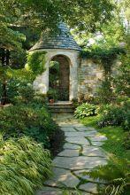 Affordable and creative diy backyard garden path on a budget (16)