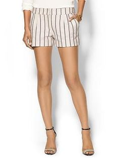 Twelfth Street By Cynthia Vincent Pleated Striped Short | Piperlime