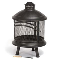 Amazon.com: Bayside Wood Burning Outdoor Fireplace: Patio, Lawn & Garden