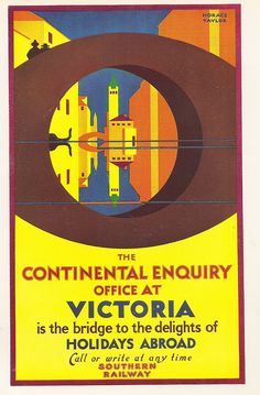 Continental Holidays poster by Horace Taylor, c1935