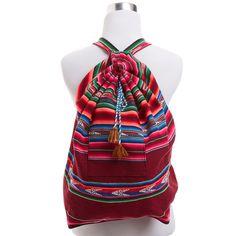 Striped Peruvian Knapsack