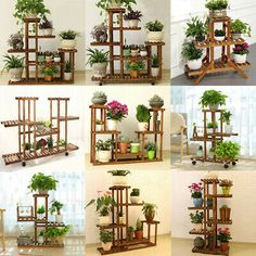Details about Wooden Plant Stand Indoor Outdoor Patio Garden Planter Flower Pot Stand Shelf Plant Wooden Display Shelf. Water proof, indoor or outdoor, Multiple shelves, Multiple use. Made from solid wood, very firm an Wooden Plant Stands Indoor, Wood Plant Stand, Outdoor Plant Stands, Plant Shelves Outdoor, Flower Planters, Garden Planters, Flower Pots, Potted Flowers, Balcony Garden