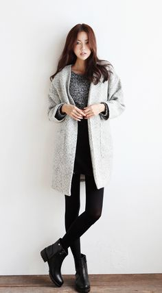coat, shirt, leggings, boots