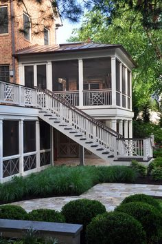 and we really need stairs from the main deck down to our firepit/basement level