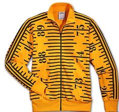 Adidas Jeremy Scott Tape Measure Track Jacket #jeremyscott #hoodie #jacket #adidas