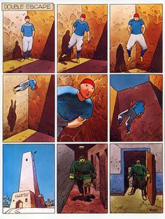 """""""Double Escape"""" by Moebius, from Moebius #6 - Pharagonesia & Other Strange Stories, published by Epic Comics, 1988."""