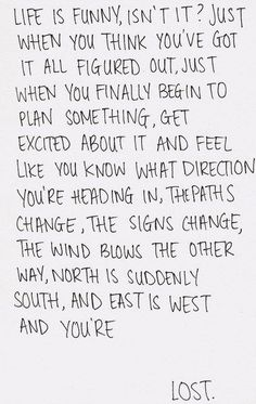I'm figuring it out, a new path will be, a new life would I have, and a new ....