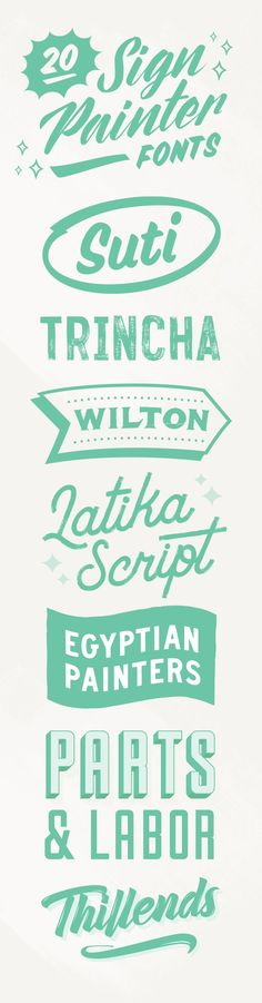 20 Sign Painter Fonts to Create Labels, Signs, and Cards ~ Creative Market Blog