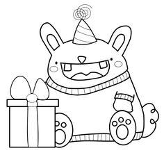 UselessTrinkets_Freebie_Party_Bunny_Monster_Muetze by Jessa Feig