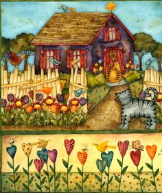 Storybook Cottage ~ Debi Hron - I LOVE Debi's art!  Every single image is happy and delightful!