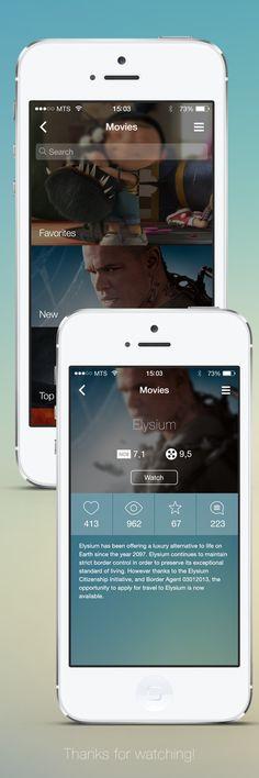 iOS7 App Concept UI by Vitaly Medvedev, via Behance