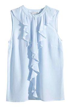 Blusa de seda sem mangas | H&M
