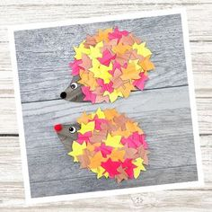 Autumn is the perfect season for leaf crafts! Whether kids are learning about leaves, fall, woodland animals or simply enjoying a fall activity at home, this open-ended fall paper craft is a fun way to extend your September, October, and November units.This cute cut and glue Fall Hedgehog is a fun h... Fall Paper Crafts, Fall Arts And Crafts, Crafts For Kids To Make, Fun Crafts, Fall Harvest Party, Hedgehog Craft, Turkey Craft, Leaf Crafts, Paper Animals