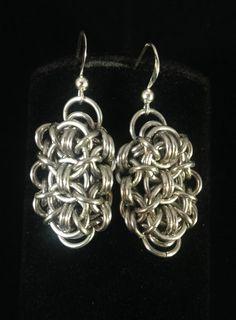 """""""Silver Scarab"""" Earrings"""
