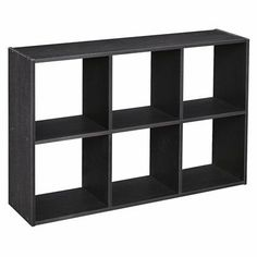 ClosetMaid 6 Cube Mini Cubeicals Black Ash.  something different for over-the-toilet storage??