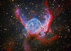 Thor's Helmet Nebula ... 15000 light years away.