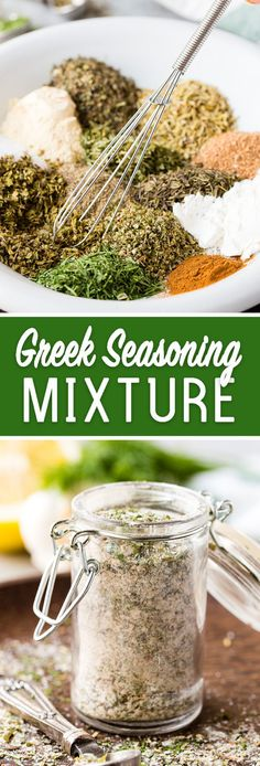 Seasoning Blend Make your own greek seasoning mixture or greek spice blend and skip all the added junk! DeliciousMake your own greek seasoning mixture or greek spice blend and skip all the added junk! Mediterranean Seasoning, Mediterranean Spices, Greek Seasoning, Seasoning Mixes, Seasoning Recipe, Seafood Seasoning, Homemade Spices, Homemade Seasonings, Homemade Spice Blends