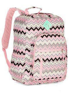 04615c464318 Decorative Girls Backpack Compact Chevron School Bag Canvas Design  fashion   clothing  shoes