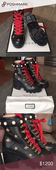 Brand New Gucci Boots 100% Authentic Brand New Gucci Boots 100% Authentic. With box and dust bags for each Boot. size 40 Gucci Shoes Lace Up Boots