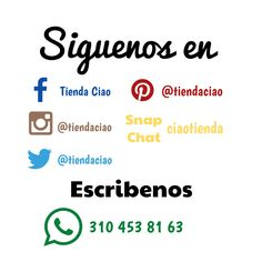 Buscanos en tu red social Favorita.  #followus #siguenos #facebook #pinterest #instagram #instagood #instalike #instapic #instafollow #instafashion #twitter #twitterfollow #snapchat #colombia