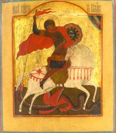 Saint George and the Dragon.     Russian, 19th century