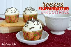 Reeses Fluffernutter Cupcakes