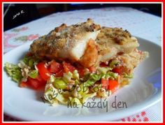Rybí filé po sicilsku Food And Drink, Chicken, Garden, Diet, Garten, Gardens, Tuin, Yard, Cubs