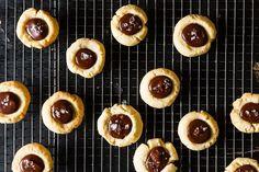 Thumbprint Cookies with Dark Chocolate and Sea Salt
