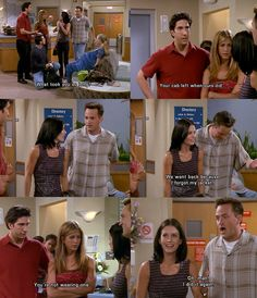 5x03 TOW The Hundredth #friends monica and chandler secrete love