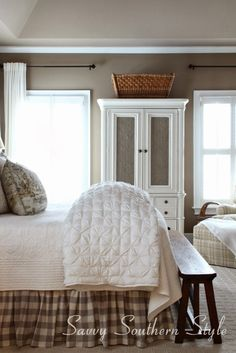 Savvy Southern Style: Home Tour NOTE basket on top ----
