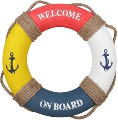 Items similar to Nautical Life Ring Wall Decorations; Beach Home Decor; Welcome Aboard Life Ring: Baby on Board Baby Shower; Nautical nursery wall decoration on Etsy Baby Shower Snacks, Baby Shower Themes, Baby Shower Decorations, Wall Decorations, Shower Ideas, Birthday Decorations, Nautical Nursery, Nautical Baby, Nursery Wall Decor