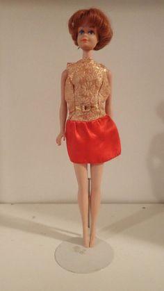 4dc74b194f2 Vintage Barbie  Fashion Pak All Dressed Up Dress Red Satin Golden Glory VGC  VHTF