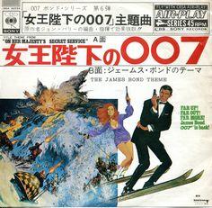 "James Bond RARE Japan 7"" single (CBSA 82039) On Her Majesty's Secret Service The James Bond Theme"