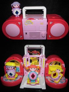 Sweet Secrets - Transformers for girls.  I had this radio that turned into a beauty salon for my Sweet Secrets girls.  So fun!