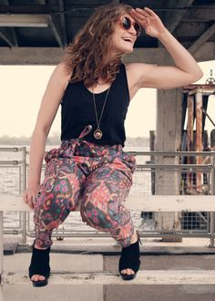 outfit of the day: crazy pants #ootd #whattowear #fashion