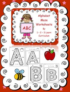 I have added alphabet maze worksheets (2 different templates) to 1 - 2 - 3 Learn Curriculum. Located under the alphabet link. :) Jean 1 - 2 - 3 Learn Curriculum