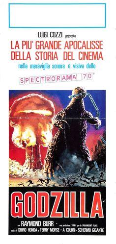 Godzilla King of the Monsters (1956) American re-edit (Ishiro Honda, Terry O. Morse). Italian Poster.